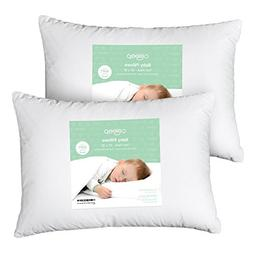 "Baby Toddler Pillow 13"" x 18 - Siliconized Microfiber Soft C"