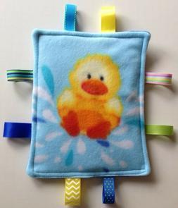 Baby Toddler Taggie Sensory Ribbon Security Blanket -- Yello