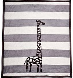 Arus Baby Turkish Cotton Blend Blanket Gray Giraffe 30x40 in
