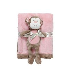 Chick Pea Baby Velboa Plush 2 Piece Blanket and Animal Toy S