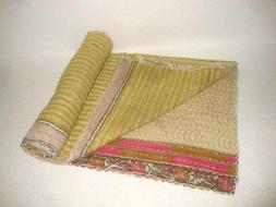 Baby vintage kantha quilt kids toddler throw bohemian bedspr