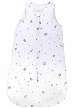 Baby Wearable Blanket- Sleep Bag Winter Weight Grey Stars fo