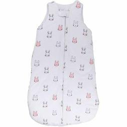 Baby Wearable Blanket- Sleep Bag Winter Weight Pink Bunnies