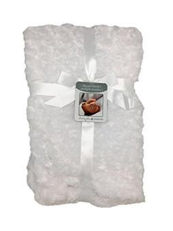 "Blankets & Beyond Baby's 28"" x 32"" White Christening Luxurio"