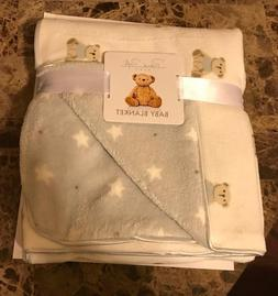 Rene Rofe Baby White UniSex Fleece Bear Blanket NEW