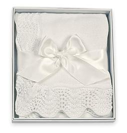 Bearington Baby White Vintage Blanket