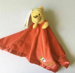 Disney Baby Winnie The Pooh Red Satin Security Blanket - Sup