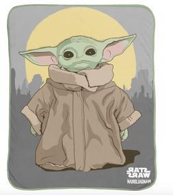 Baby Yoda Blanket Throw 40 x 50 Disney Star Wars Mandelorian