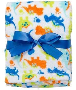 BabyGear Baby-Boys Newborn Printed Velboa Blanket On Hanger-