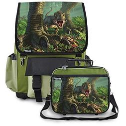 High Quality Backpack & Lunch Box With Baby Wee Rex Dinosaur