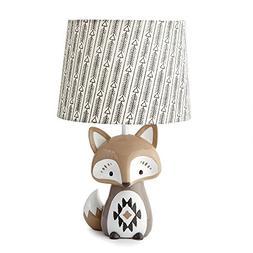 Levtex Baby Bailey Charcoal Arrow Print Lamp Shade & Taupe F