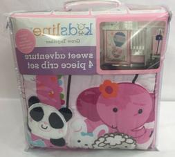 Kidsline Balloon Adventure Crib Sheet Ruffle 4pc Bedding Set