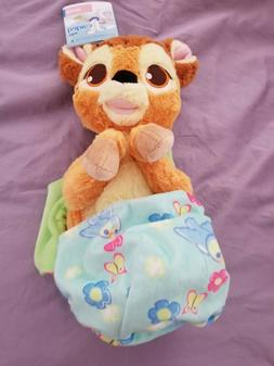 """Disney Parks Bambi Baby Plush with Blanket Pouch 10"""" Babies"""