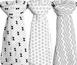 Bamboo Muslin Swaddle Baby Blankets Set of 3 - Organic X-Lar