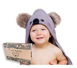 Hooded Baby Towel and Washcloth Gift Set   Koala Design   Ex