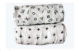 Bamboo Swaddle Baby Blankets - 70% Bamboo 30% Organic Cotton