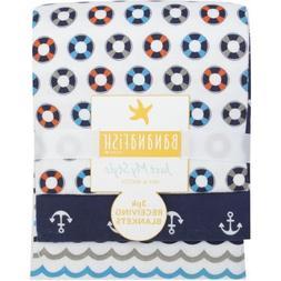 Bananafish Studio Anchors Aweigh Receiving Blankets, 3pk