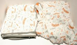 Bacati Basketball Muslin Standard Crib Sheet & Baby Blanket