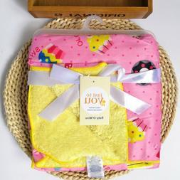Bassinet Soft Warm Fleece Newborn Baby Blankets Cute Bedding