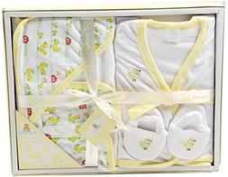 Big Oshi Bathtime Essentials Terry Layette Baby Gift Set, 5