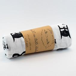 Batman Black and White, Breathable Muslin Blanket, Nursery B