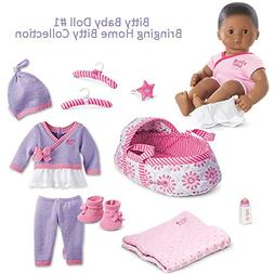 American Girl BB1 Bitty Baby Doll #1 Brown Eyes, Textured Bl