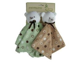 Beansprout 2 Pack Cuddle Friends Bear Sage/Brown Security Lo