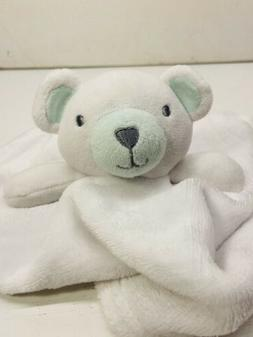 NEW Bon Bebe 2pc Bear Baby Blanket Set White Green Boy Girl
