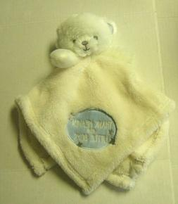 """Bear Security Blanket By Baby Gear, Reads """"Thank Heaven For"""