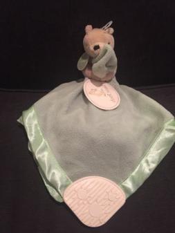 Disney Classic Pooh Bear Security Blanket Lovey Rattle Teeth