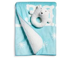 Bear Valboa Ring Rattle and Blanket Set - LIMITED EDITION