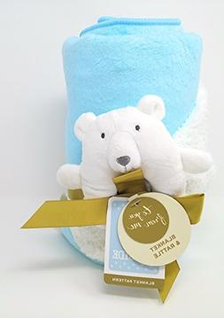 Bear Valboa Ring Rattle and Blanket Set LIMITED EDITION Flee
