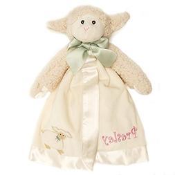 PERSONALIZED Bearington Lamby Snuggler Plush Velour Security