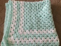 BEAUTIFUL NEW HANDMADE CROCHET BABY BLANKET/AFGHAN - PASTEL