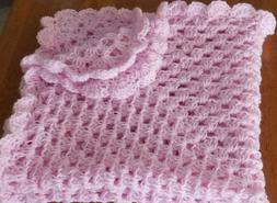 BEAUTIFUL NEW HANDMADE CROCHET BABY BLANKET/AFGHAN Solid PIN