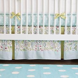 Carousel Designs Bebe Jardin Crib Skirt Two Front Pleats 14-