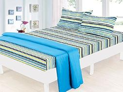 Clara Clark Bed Sheet Bedding Set, Beautiful Children Prints