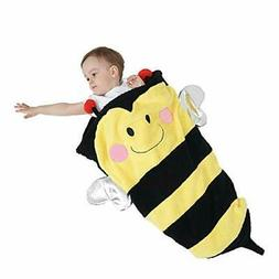 SINOGEM Bee Baby Blanket Toy - Lovely Plush Friendly Insects
