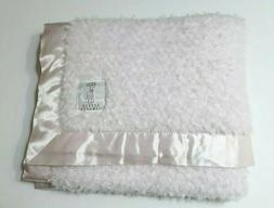 Little Giraffe Bella Luxe Faux Fur Pink Baby Blanket Satin T