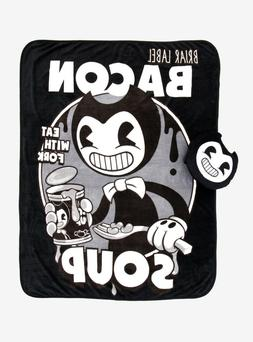 Bendy and the Ink Machine Bacon Soup Throw Blanket & Pillow