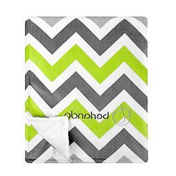 berlando Signature Edition Chevron Baby Blanket, 100% Polyes