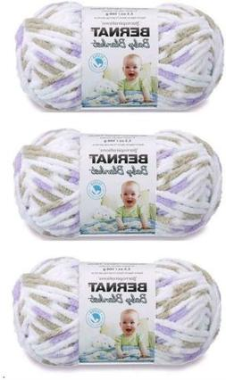 3-Pack Bulk Buy Little Lilac Dove Bernat Baby Blanket Yarn