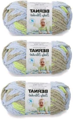 Yarnspirations Bernat Baby Blanket Yarn 3-Pack Little Boy Do