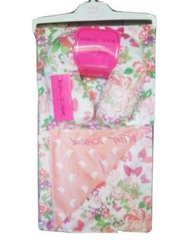 Betsey Johnson Soft Baby Blanket With A Matching Support Pil