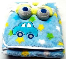 bg Baby Gear Baby Boy Blanket Super Soft 2 Piece Set Blue