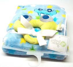 bg Baby Gear Baby Boy Blanket Super Soft 2 Piece Set Blue #9