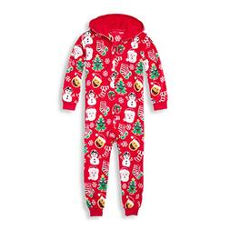 The Children's Place Big Boys' Christmas Onesie, Ruby, S