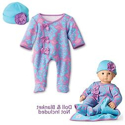 American Girl Bitty Baby Fresh Blooms Set - Sleeper & Hat in