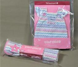AMERICAN GIRL BITTY BABY BITTY/'S BATH SET NIB COLORFUL DOTS BLANKET