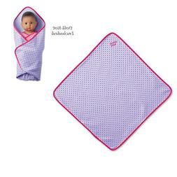 "American Girl Bitty Baby Purple Daisy Blanket for 15"" Dolls"